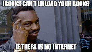 iBooks can't unload books, if there is no internet
